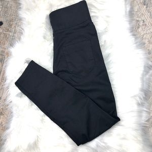 Asos Black High Rise Jeggings Size 26/28